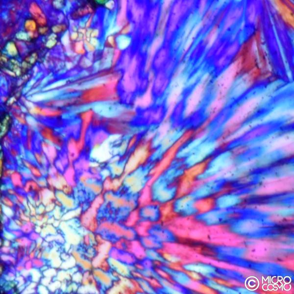 cespugli di cristalli aghiformi