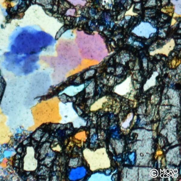 micro fotografia di roccia metamorfica