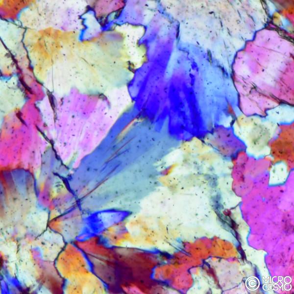 dettaglio di cristalli in bolla di gas