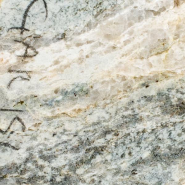 foto macroscopica di porzione di roccia di gneiss
