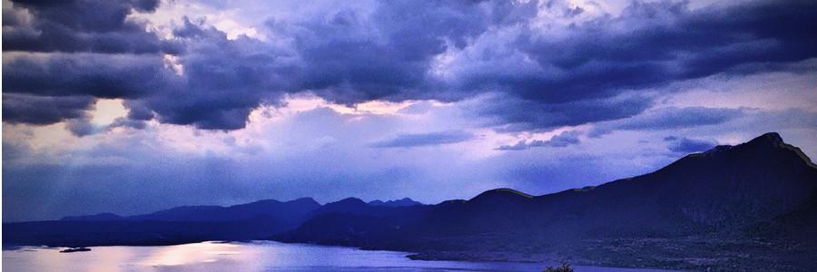 nuvole sul lago di Garda