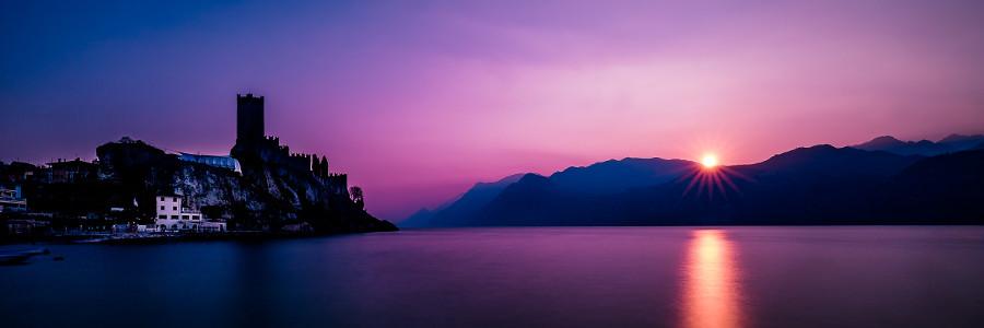 castello di Malcesine al tramonto