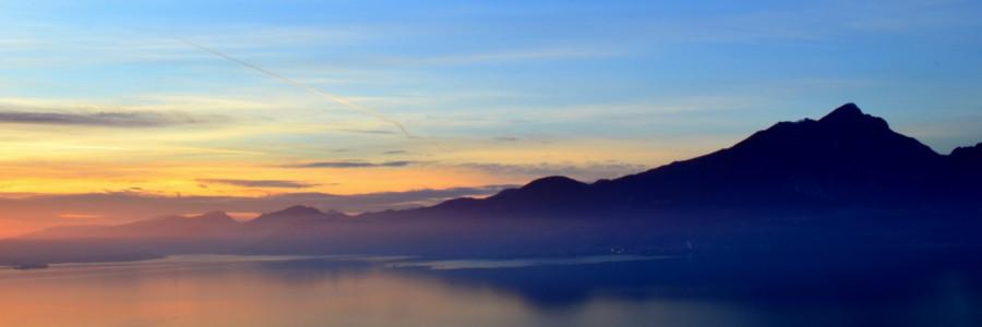 lago di Garda al tramontoi
